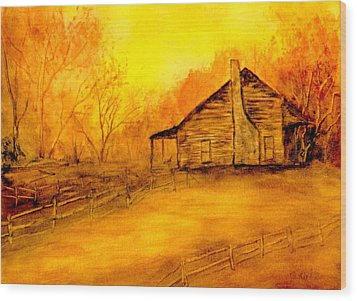 Wood Print featuring the painting Early Kentucky Times by Gail Kirtz