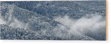 Early Morning After A Snowfall Wood Print by Sebastien Coursol