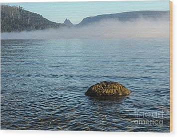 Wood Print featuring the photograph Early Morning At Lake St Clair by Werner Padarin
