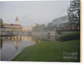 Early Morning At Port Orleans Riverside Wood Print