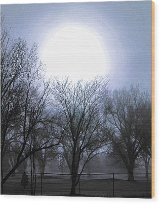 Wood Print featuring the digital art Early Morning At The Golf Course by Tammy Sutherland