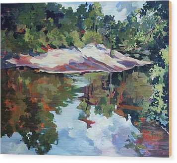 Early Morning Creekside Alabama Wood Print by Rae Andrews