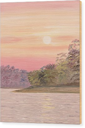 Wood Print featuring the painting Early Morning by Elizabeth Lock