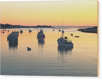 Early Morning In Chatham Harbor Wood Print by Roupen  Baker