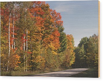 Early Morning In Door County Wood Print by Sandra Bronstein