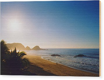 Early Morning In Zipolite 2 Wood Print by Lyle Crump