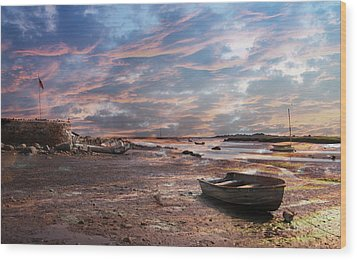 Early Morning Low Tide On The North Shore Wood Print