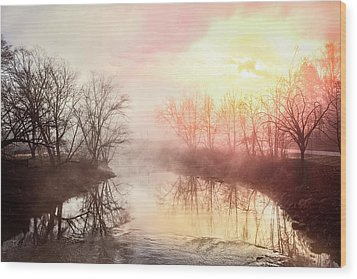 Wood Print featuring the photograph Early Morning On The River by Debra and Dave Vanderlaan