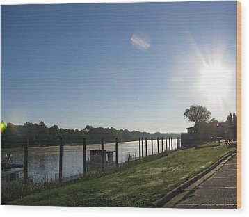 Early Morning On The Savannah River Wood Print