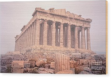 Wood Print featuring the photograph Early Morning Parthenon by Nigel Fletcher-Jones
