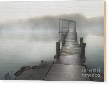 Yesterday's Early Morning Pier Wood Print by Tamyra Ayles
