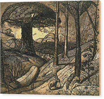 Early Morning Wood Print by Samuel Palmer