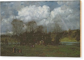Early Spring Wood Print by Hans Thoma