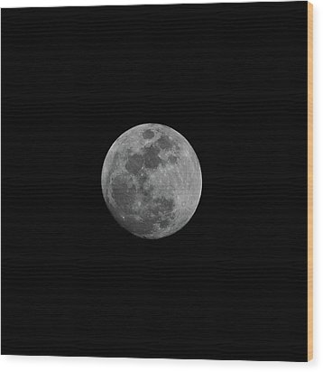 Early Spring Moon 2017 Wood Print