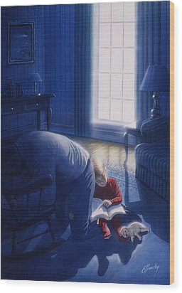 Early Will I Seek Thee Wood Print by Cliff Hawley