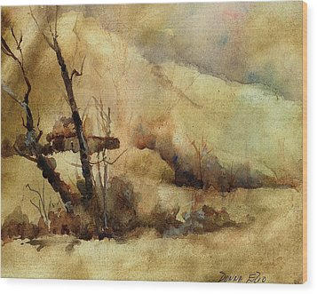 Early Winter Wood Print by Donna Elio