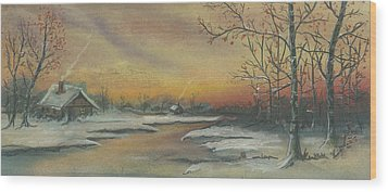 Early Winter Wood Print by Shelby Kube