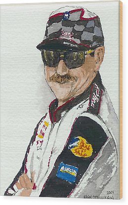 Wood Print featuring the painting Earnhardt Attitude by Lynn Babineau