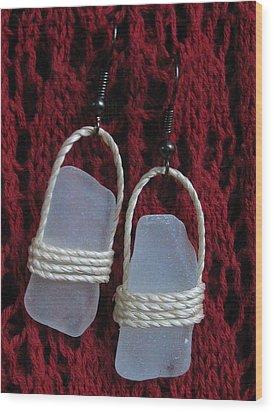 Earrings 1 Wood Print by Lorna Diwata Fernandez