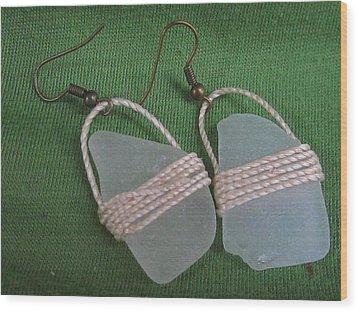 Earrings 4 Wood Print by Lorna Diwata Fernandez