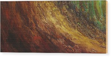 Earth A Wood Print by Pure Abstract