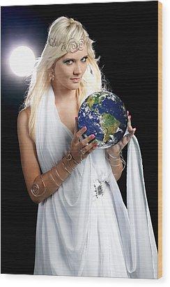 Earth Angel Wood Print by Cindy Singleton