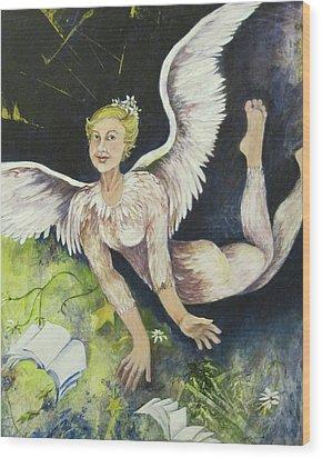 Earth Angel Wood Print by Georgia Annwell