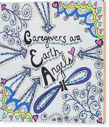 Earth Angel Wood Print by Carole Brecht