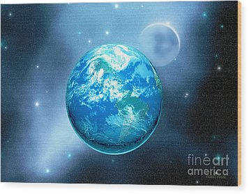 Earth Wood Print by Corey Ford