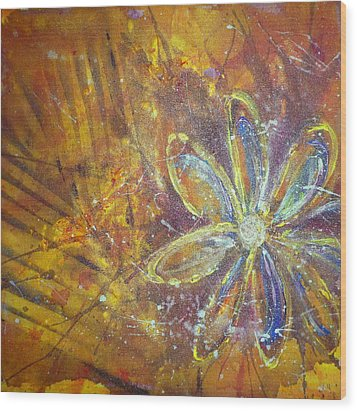 Earth Flower Wood Print by Tracy Bonin