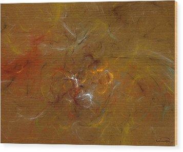 Earth Inside Wood Print by Emma Alvarez