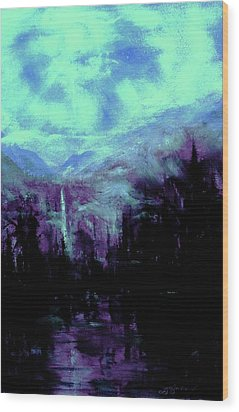 Earth Light Series Nocturne Wood Print