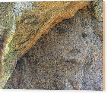 Wood Print featuring the photograph Earth Memories-stone # 4 by Ed Hall