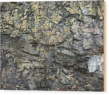 Wood Print featuring the photograph Earth Memories - Stone # 6 by Ed Hall