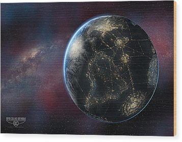 Earth One Day Wood Print by David Collins