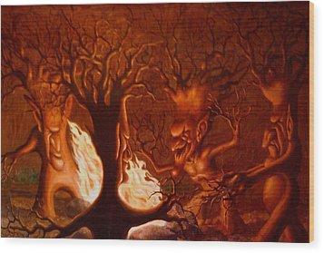 Earth Spirits Wood Print by Andrew Gardner