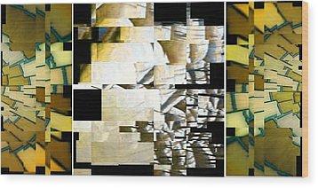 Earth Wood Print by Gyorgy Szilagyi