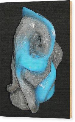 Earth Vs Water Wood Print by Alysa Sheats