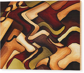 Earth Weave Wood Print by Vicky Brago-Mitchell