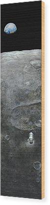 Earthrise  Wood Print by Simon Kregar