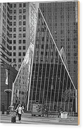 East 42nd Street, New York City  -17663-bw Wood Print