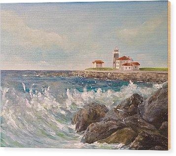 East Beach View Wood Print