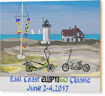 East Coast Elliptigo Classic  Opus 3 Wood Print