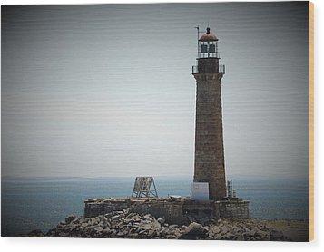East Coast Lighthouse Wood Print