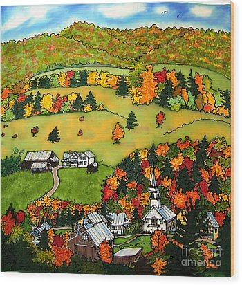 East Corinth Village Wood Print by Linda Marcille