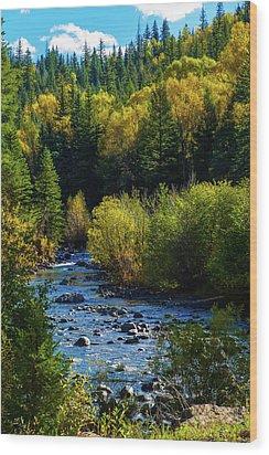 East Fork Autumn Wood Print