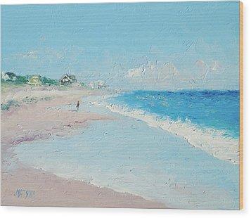 East Hampton Beach Wood Print