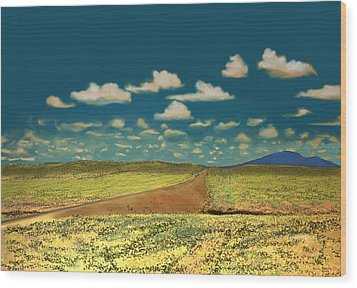 Wood Print featuring the digital art East Of Flagstaff Arizona by Kerry Beverly
