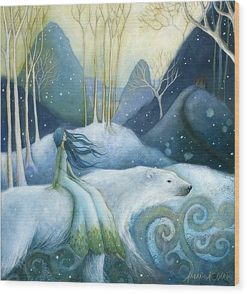 East Of The Sun West Of The Moon Wood Print by Amanda Clark
