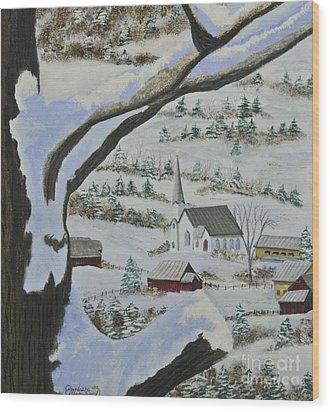 East Orange Vermont Wood Print by Charlotte Blanchard
